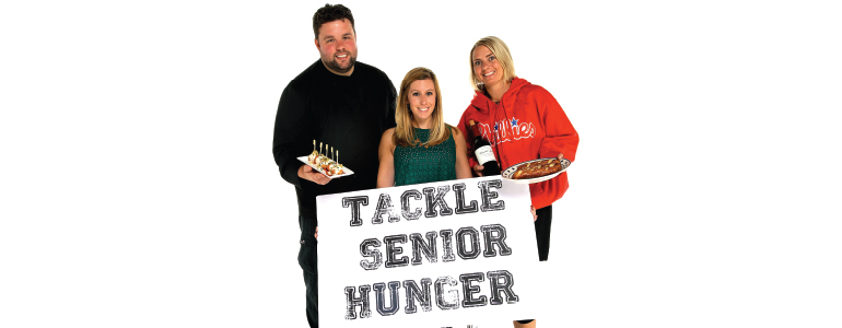 Ultimate Tailgate participants (L-R): Robbie Jester, executive chef at Stone Balloon Ale House; Ashley Gliniak, marketing and development manager at Meals on Wheels Delaware; Brittney Hauserman, bartender/server at Pizza By Elizabeths.(Photo Luigi Ciuffetelli Photography)