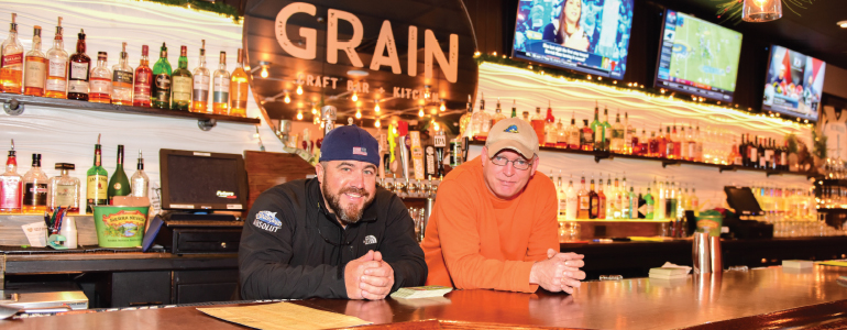 Veteran bartenders and old friends Matty Kasper and Brian Ford are both currently pouring drinks at Newark's Grain Craft Bar + Kitchen. (Photo by Anthony Santoro)