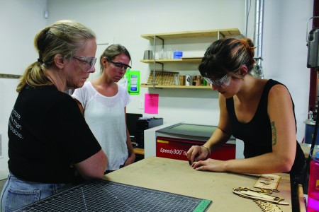 An introduction to jewerly-making class at NextFab. (Photo courtesy of NextFab)