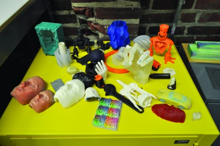 Examples of 3D printed objects made at NextFab. (Photo courtesy of NextFab)