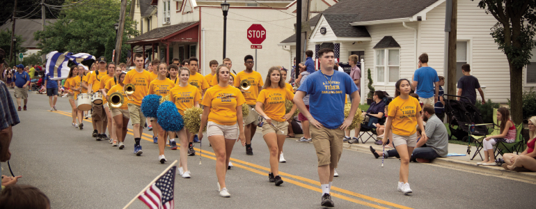 Alexis I. du Pont High School's marching band was among the participants in Hockessin's annual Fourth of July parade. (Photo by Ana Yevonishon/Expressions Photography)