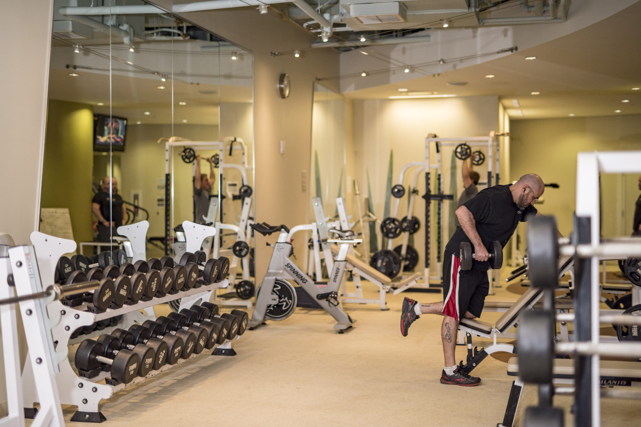 Weight training is an essential part of most fitness regimens. (Photo by Jim Coarse)