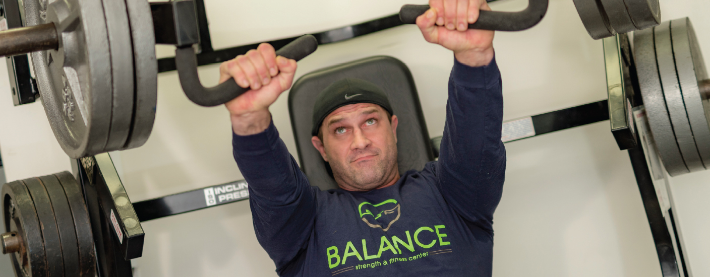 Scott McCarthy, owner and personal trainer at Balance Fitness in Wilmington. (Photo by Jim Coarse)