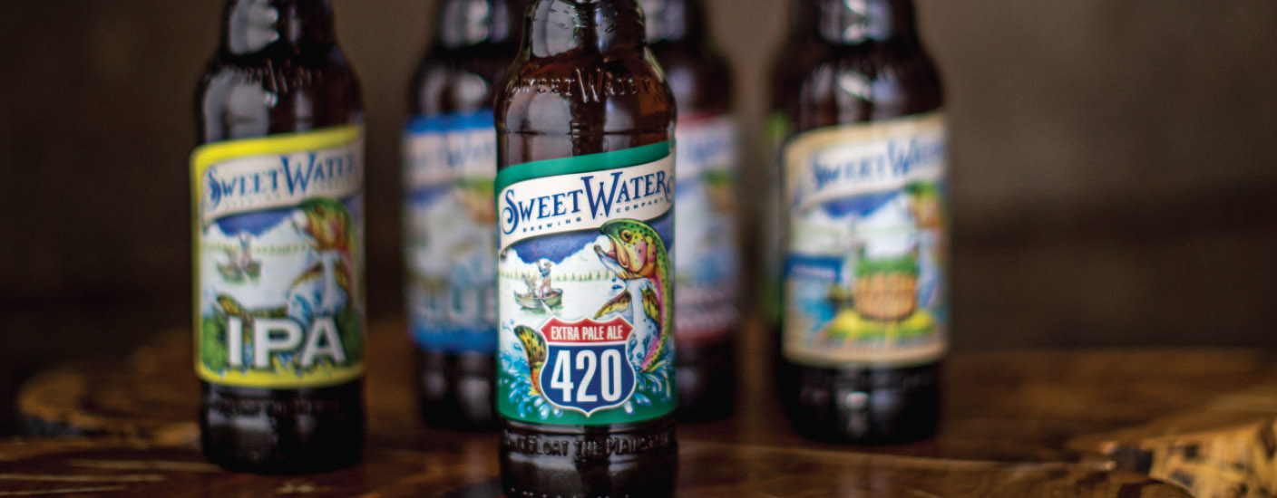 Award-winning 420 Extra Pale Ale leads the SweetWater invasion. (Photo courtesy of SweetWater Brewing Co.)
