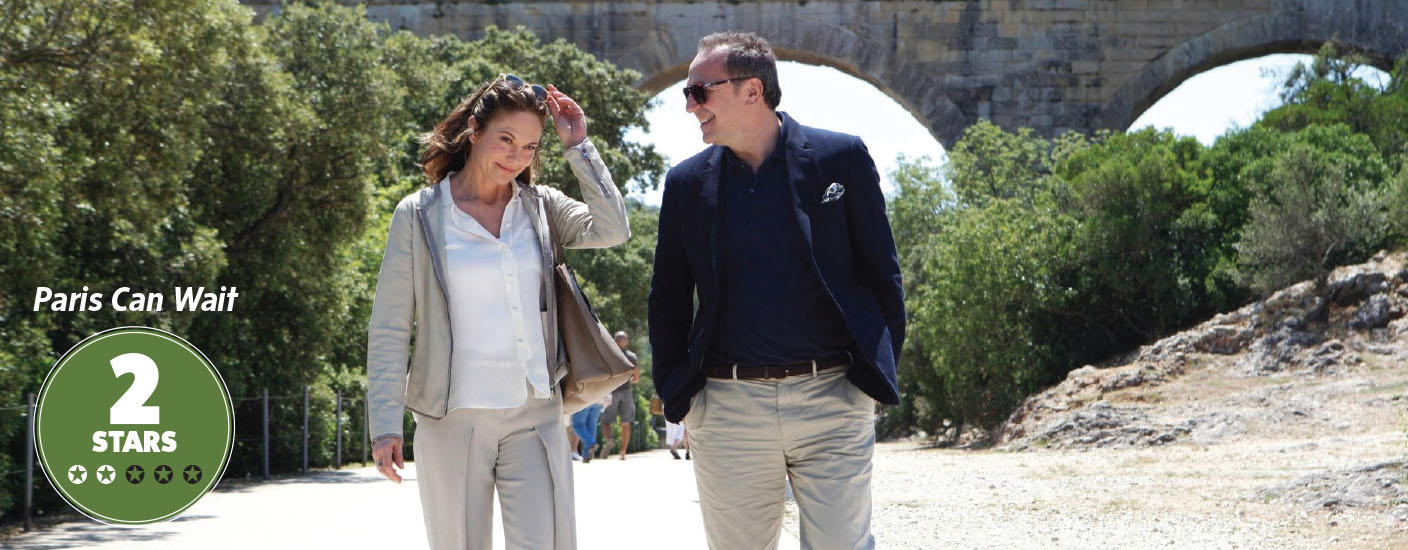 Diane Lane as Anne and Arnaud Viard as Jacques in Paris Can Wait. (Photo courtesy of Sony Pictures Classics)