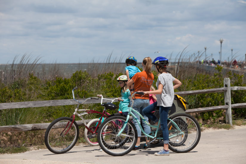 Thousands take advantage of the Borrow-A-Bike program at Cape Henlopen State Park. (Photo by April Abel, Delaware State Parks)