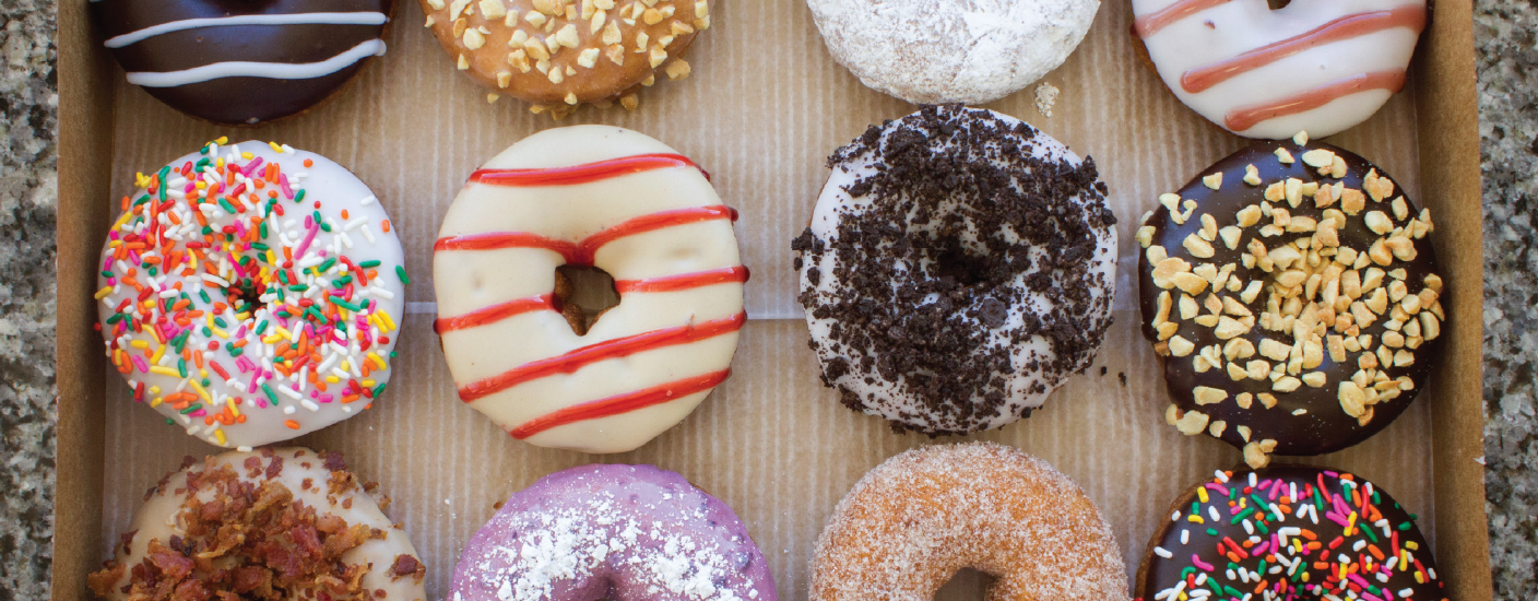 A box of the made-to-order goodies offered by Duck Donuts. (Photo courtesy of Duck Donuts)