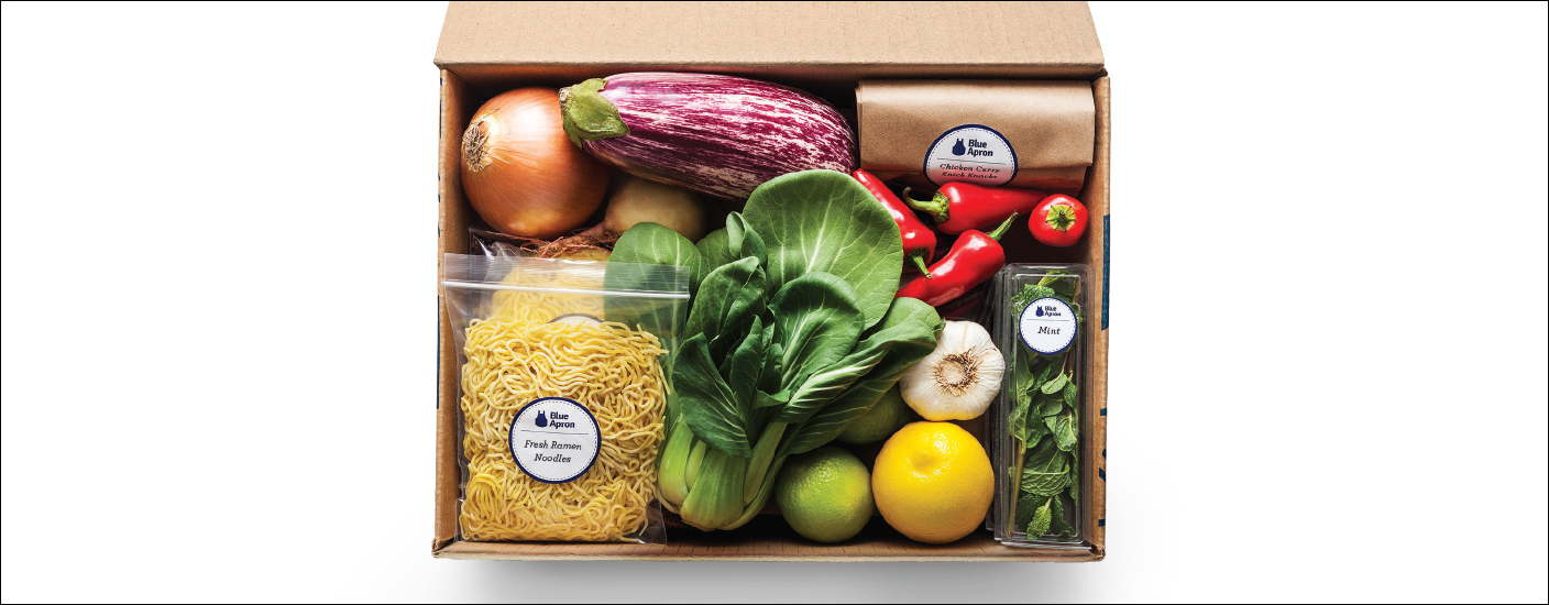 A box of fresh ingredients from Blue Apron. (Photo courtesy of Blue Apron)