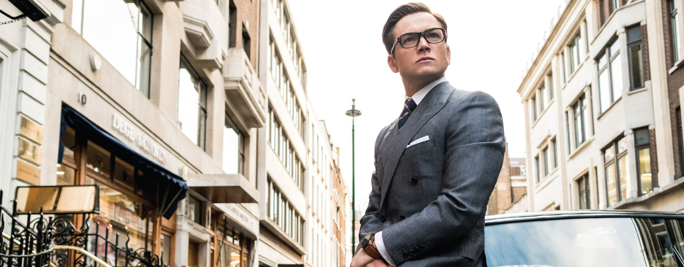 "Nattily-dressed Taron Egerton is superspy ""Eggsy"" in Kingsman: The Golden Circle. Photo Giles Keyte / Twentieth Century Fox Film Corporation"