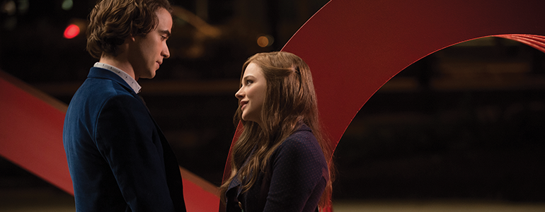 Jamie Blackley as Adam and Chloe Grace Moretz as Mia Hall in If I Stay, a Warner Bros. Pictures release. (Photo by Doane Gregory)