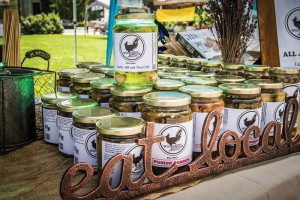 The blue hen on the label makes clear Wilmington Pickling's Delaware connection. (Photo by Joe del Tufo)
