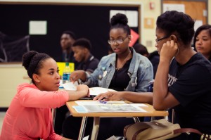 Two hundred students are expected to be mentored this semester through December. (Photo courtesy of Teach For America)