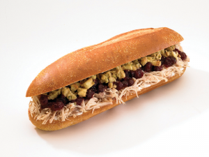 "Capriotti's legendary ""Bobbie"" includes turkey, stuffing and cranberry sauce in a sub roll. (Photo provided by Capriotti's)"