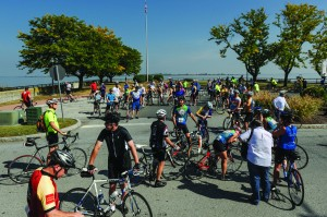 Delaware City has used recreational actitivies like the annual River Towns Ride to bring visitors to town. (Photo by Les Kipp)