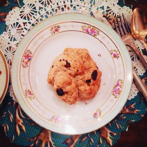 A cranberry scone at British Tea Room is just one of many delectable options.
