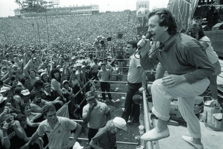 Jim Kerr and his band Simple Minds were the first act to be contacted to play the Philadelphia portion of Live Aid. (Photo by Fred Comegys)