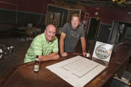 O'Donoghue, Mikels and their team hope to have Grain open in time for the Newark Food & Brew Fest on July 25. (Photo by Dennis Dischler)