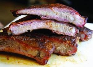 Ribs at Locale BBQ Post in Wilmington, Monday, Sept. 21, 2015. (Photo by Tim Hawk)