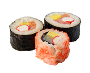 sushi on the white background. (isolated)