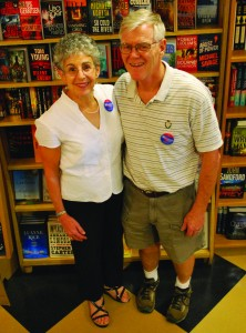 "Gemma and Jack Buckley emphasize ""handselling"" at Ninth Street Books."