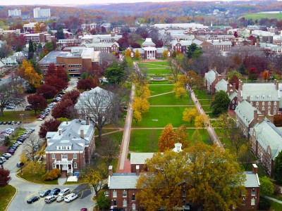 The UD campus accommodates more than 7,000 of the 21,000 plus enrollment (Photo courtesy of the University of Delaware)