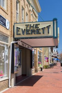 The Everett is the town's long-standing entertainment hub.