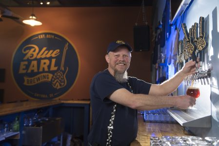 Ron Price opened Blue Earl Brewing last year in the Smyrna Business Park.