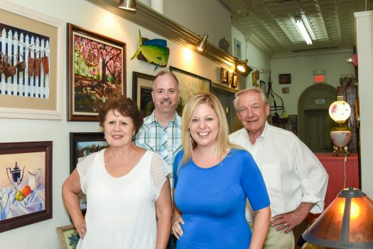 Jan Henion, Rodney Pratt, Michelle Quaranta and Gene Dempsey of 2nd Act Antiques.
