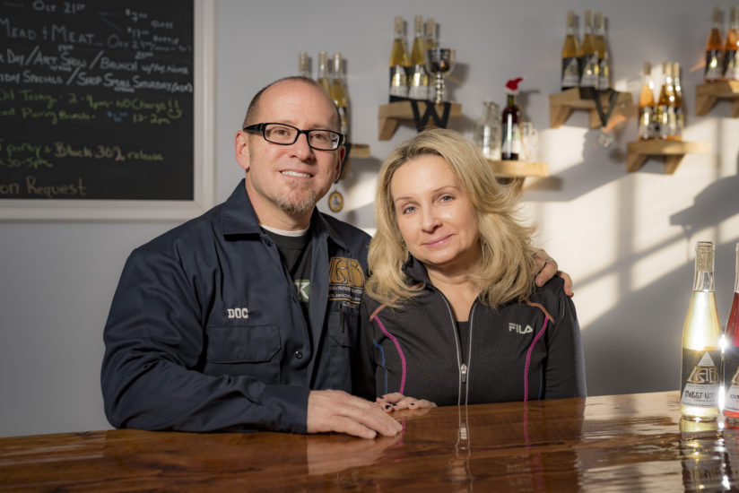 Dr. Jeffrey Cheskin and Terri Sorantino of Liquid Alchemy Beverages fell in love with mead the first time they tasted it. (Photo by Jim Coarse)