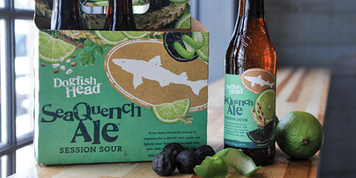 Dogfish Head's SeaQuench Ale. Photo courtesy of Dogfish Head Brewery