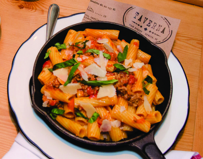 Rigatoni & Sweet Italian Sausage at Taverna Rustic Italian (Photo by Danielle Quigley)