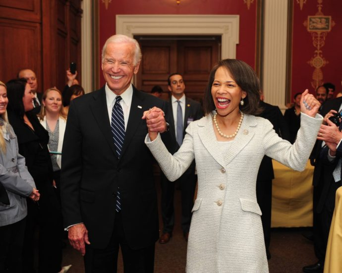 Blunt Rochester and Vice President Biden greet supporters at her swearing-in reception. (Photo courtesy of Office of Rep. Blunt Rochester)