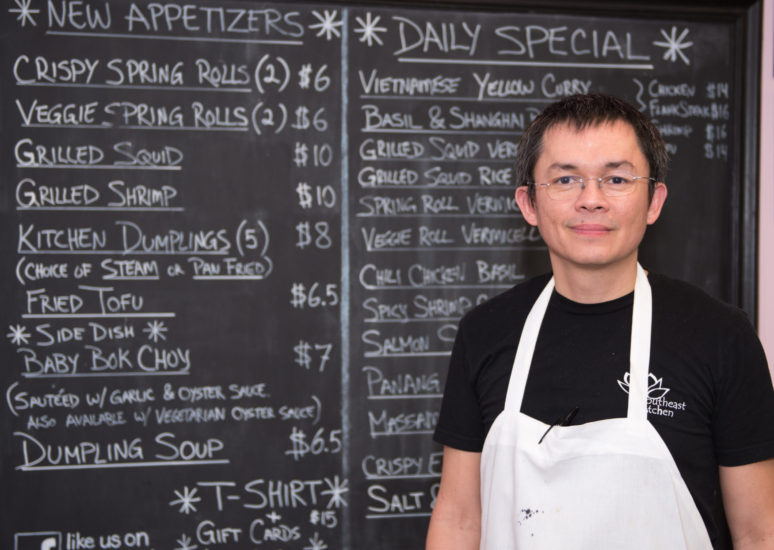 Chef Hung Le, co-owner of Southeast Kitchen. (Photo by Anthony Santoro)