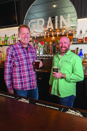 Lee Mikles and Jim O'Donoghue at the first Grain Craft Bar + Kitchen in Newark. (Photo by Matt Urban)