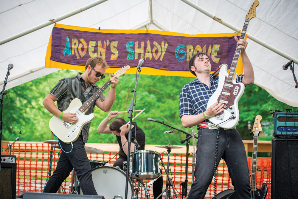 Scantron plays at Arden's Shady Grove concert in 2014. Photo Joe del Tufo